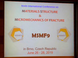 «Materials Structure & Micromechanics of Fracture» (MSMF9)