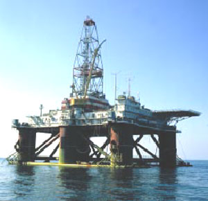The Shelf floating semi-submersible drilling rig